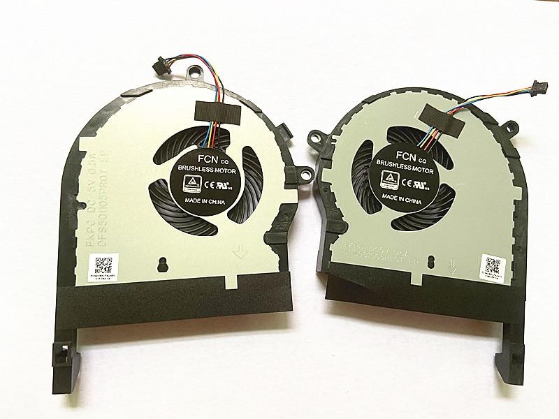 SSEA nuevo ordenador portátil CPU GPU ventilador de refrigeración para ASUS ZX80G FX504 FX80GE FX80FE FX80