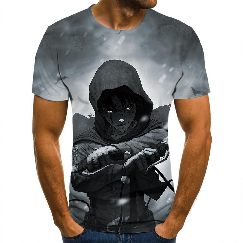 Camiseta con estampado 3d para hombres, camisa con estampado 3d de titan...