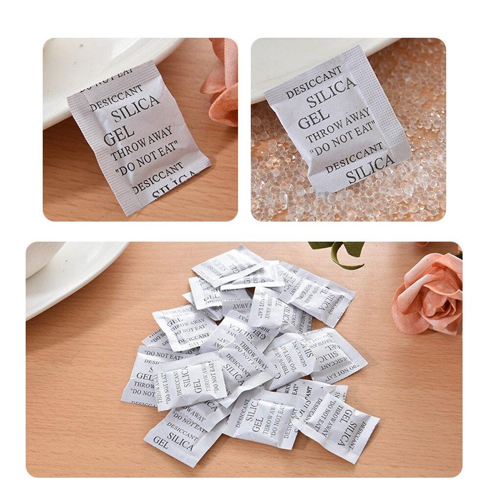 100 Packs Niet-giftige Silicagel Droogmiddel Vochtige Keuken Woonkamer Vocht Voor Ontvochtiger Accessoires Absorber Tassen # Yj