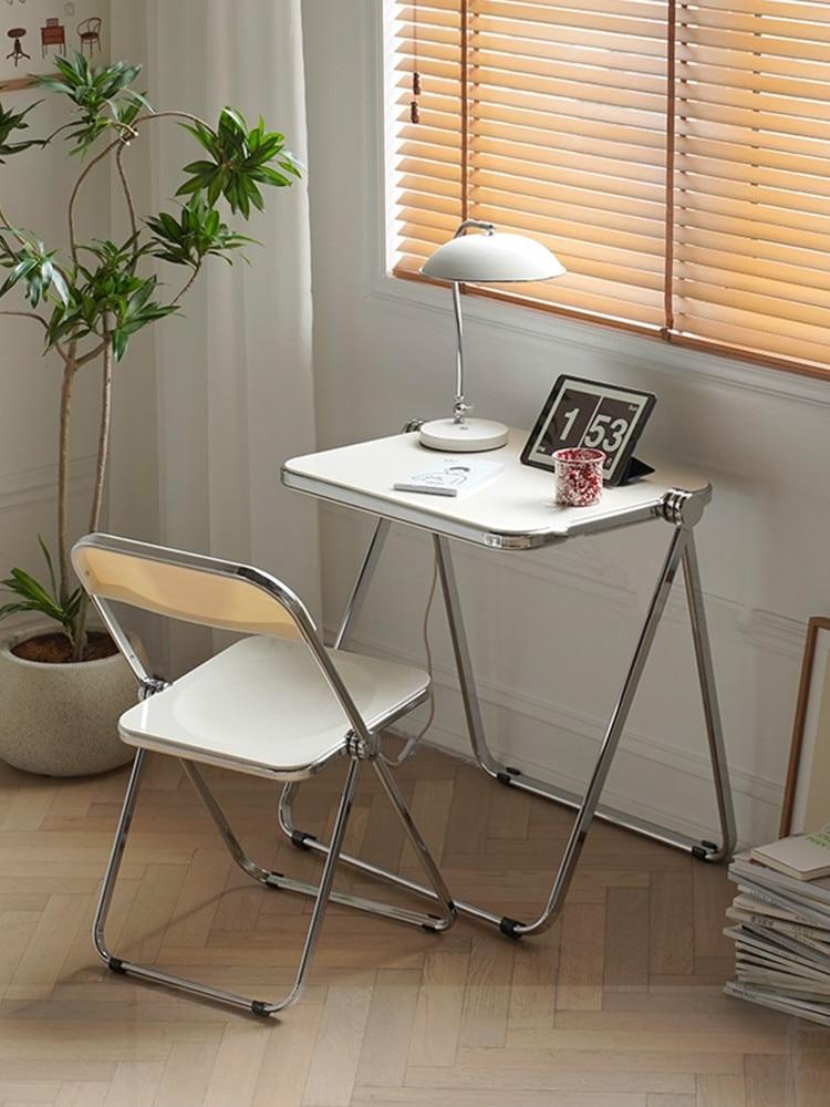 الرجعية الطعام كرسي المنزل كرسي مكتب مطعم الأثاث الحديثة ماكياج البراز كرسي قابل للطي شفافة
