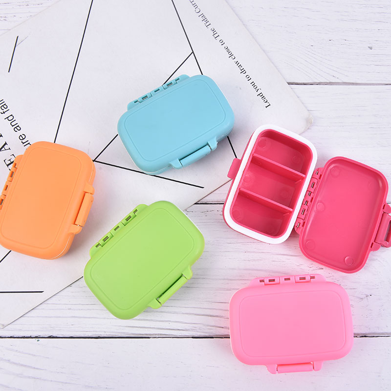 AliExpress - 1pc Foldable And Portable Daily Vitamin Medicine Pill Box Case Container 3 Grids Travel Storage Organizer Container Case