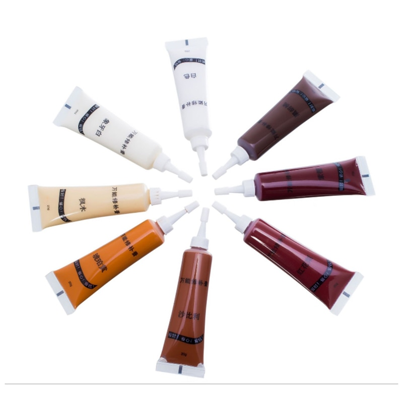 1 unidad de reparación de pasta de Color pluma de madera de relleno de pintura de muebles de madera maciza pintura de reacabado piso decorativo sello de pintura