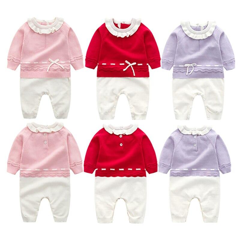 Осенне-зимнее боди для маленьких девочек, детское боди для новорожденных, комбинезоны для новорожденных