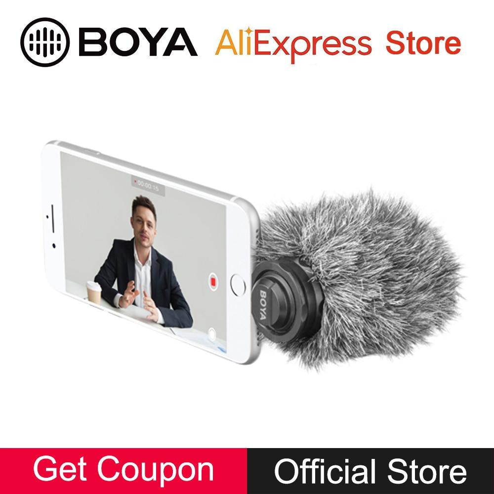 BOYA BY-DM200 Stereo Microphone for iPhone Xs Xr X 8 7 6s 6 Plus SE 5c 5s iPad mini 4 3 2 Pro Air 2 Nano iPod Touch 6 5 Vlog Mic