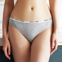 sport style panties women cotton underwear lingerie sexy g string thongs 1 piece stealth solid color seamless panties