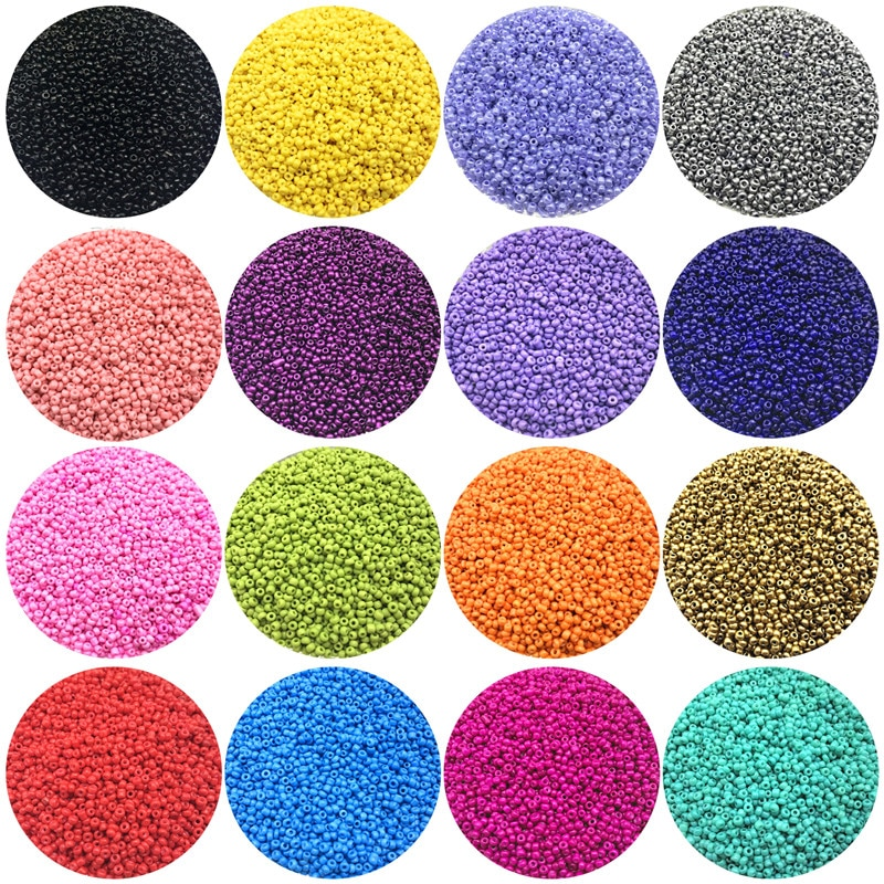 1000pcs/Lot 2mm Charm Czech Glass Seed Beads DIY Bracelet Necklace Beads For Jewelry Making Accessor
