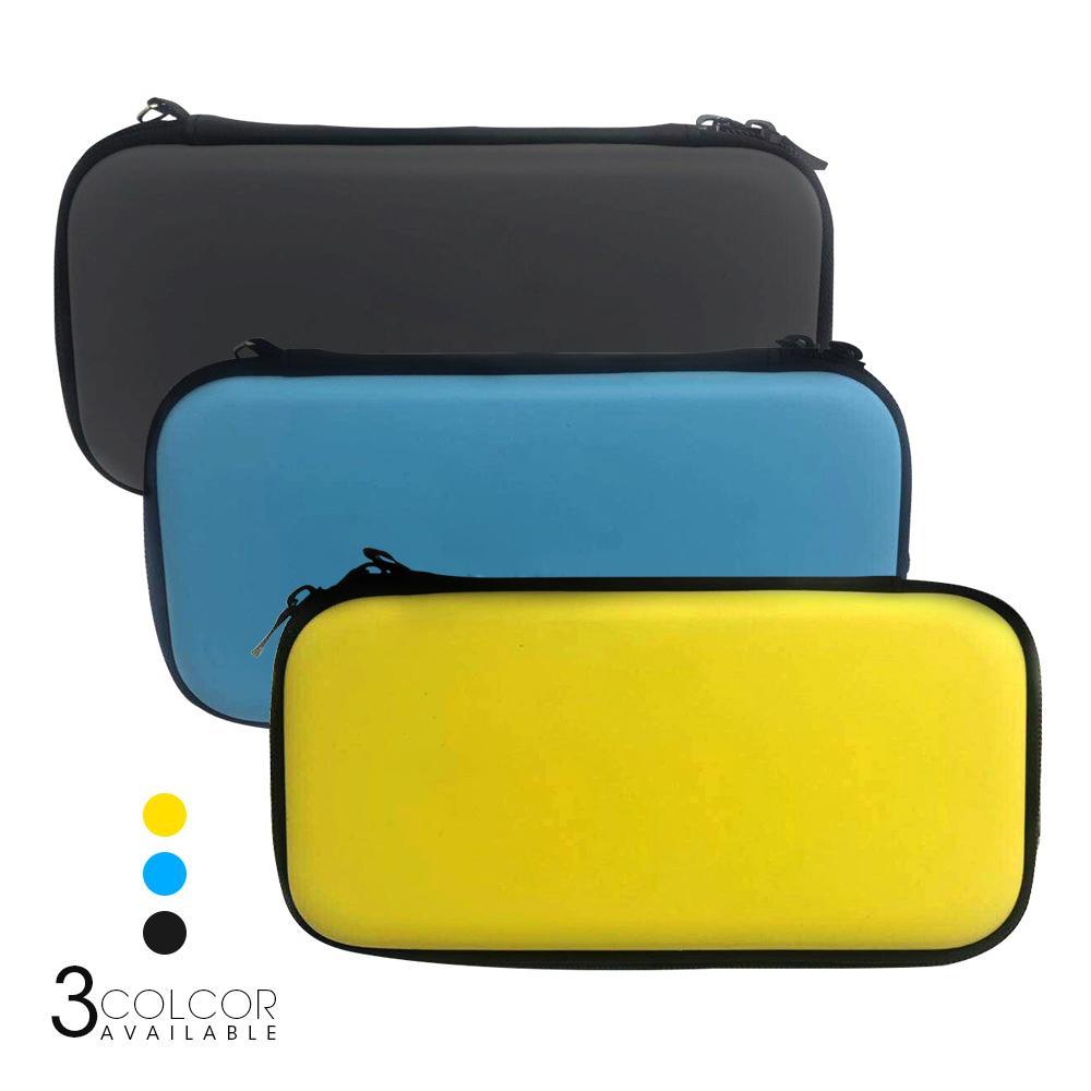 Capa protetora para nintendo switch lite mini, bolsa de armazenamento com espaço para cartões de jogo, capa dura de eva