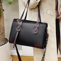 large capacity womens messenger bag top handle tote handbags wide shoulder strap crossbody bag quality pu leather shoulder bags
