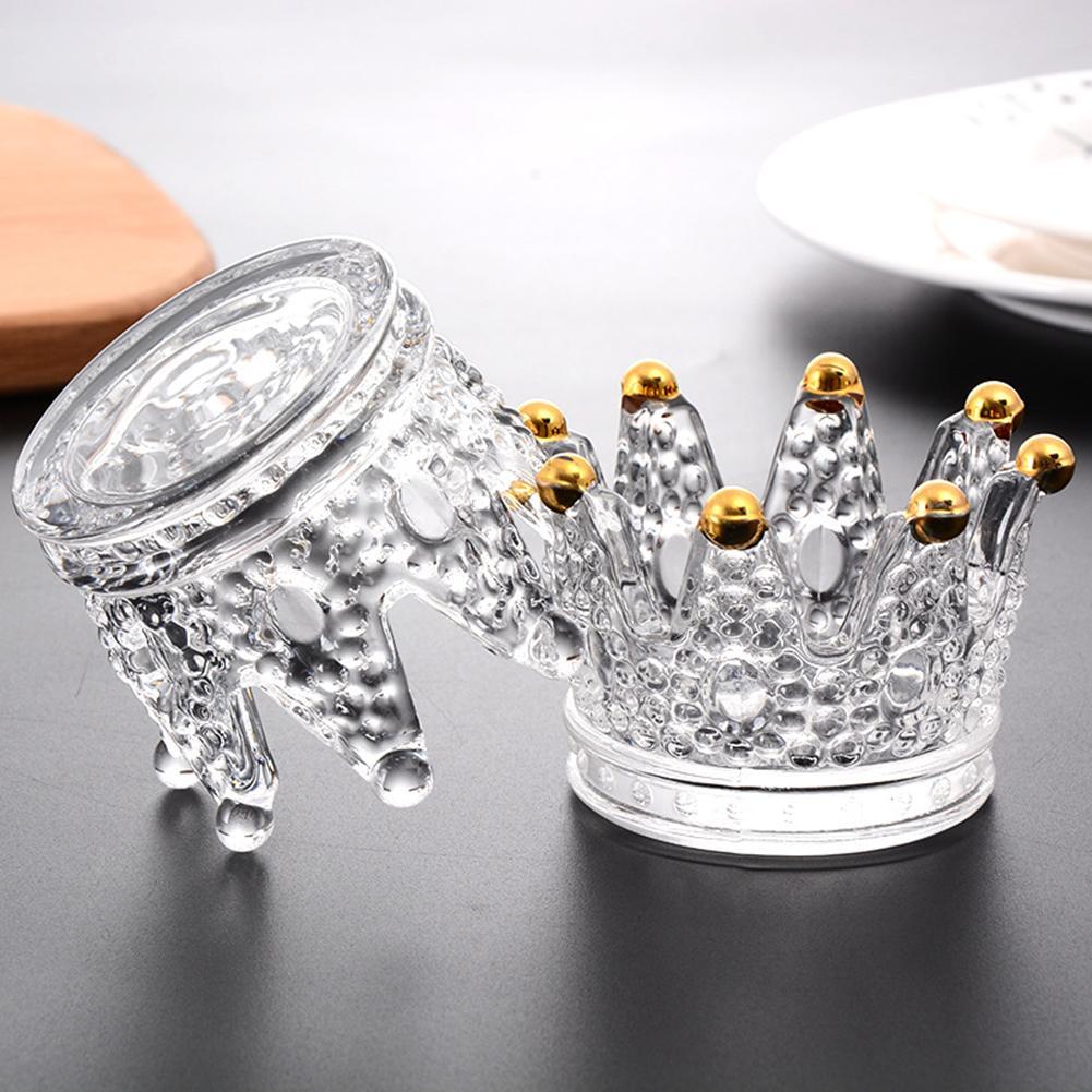 Castiçais votive suporte de vela coroa forma de vidro caixa de jóias cinzeiro decorações de mesa para o casamento decoração para casa castiçais