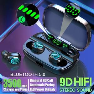 Hot Sales 3500mAh TWS Wireless Earphone Bluetooth Headphones Best Earbuds HIFI Stereo Sound Handsfree Noise Cancelling Headset