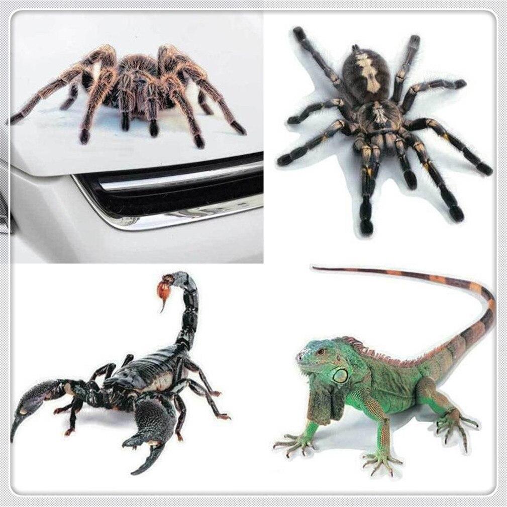 Etiqueta do carro 3d animais aranha vinil decalque para mercedes benz f015 b-classe ml63 m-classe ener-g-força r classe ml gl g r s63 s600