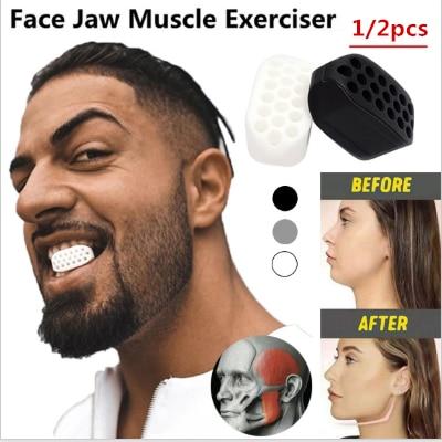 1/2pcs Jaw exerciser Jawline Jawzrsize trainer exercise ball jawliner jawrsize line chew ball workout muscle
