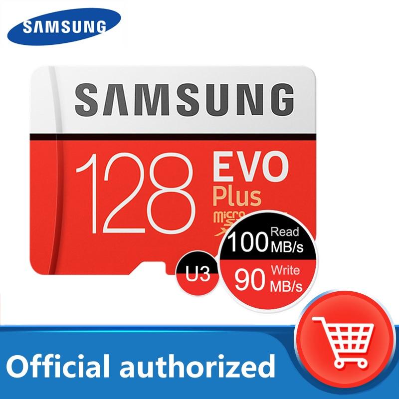 100% original Samsung micro sd 128gb flash Memory card 100MB/s 32gb 64gb cartao de memoria Class 10 UHS-I U3 4K 256gb TF card