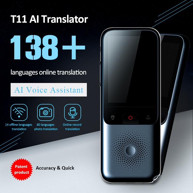 T11 Portable Wifi Voice Translator Two-Way Real Time 138 Multi-Language Translation 14 Languages Portable Voice Translator