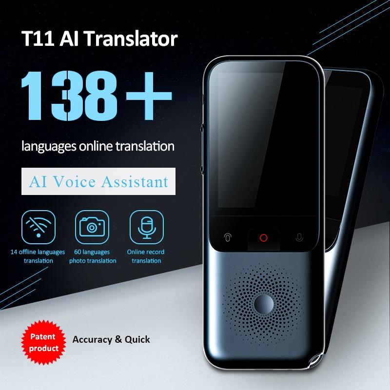 Traductor de voz por Wifi portátil T11, traductor de voz por Wifi en tiempo Real bidireccional 138, traductor de voz portátil en 14 idiomas