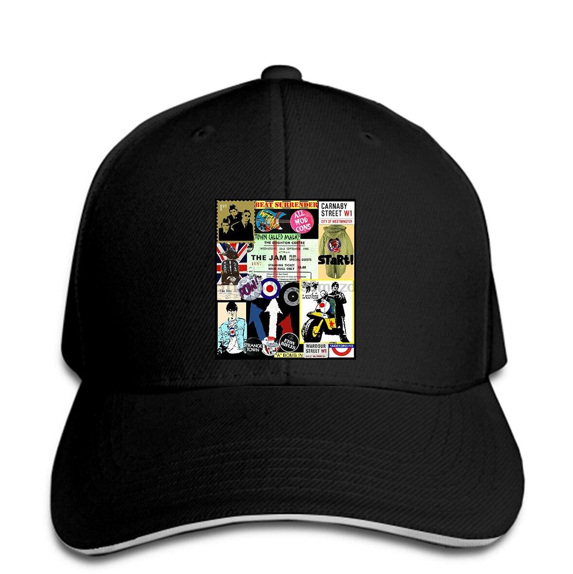 La mermelada homenaje hombres gorra de béisbol WELLER FOXTON BUCKLER MODS estilo Consejo SCOOTERS del casquillo del Snapback sombrero de mujer alcanzó su punto máximo