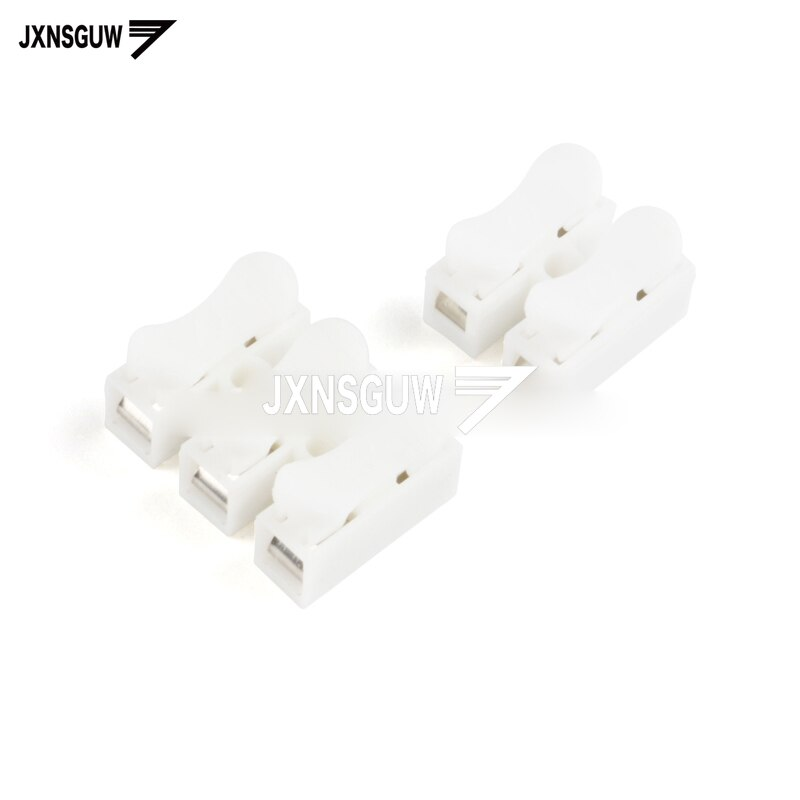 20PCS Quick connection terminal CH-2/3-position wire connector joint row column push-type butt LED light
