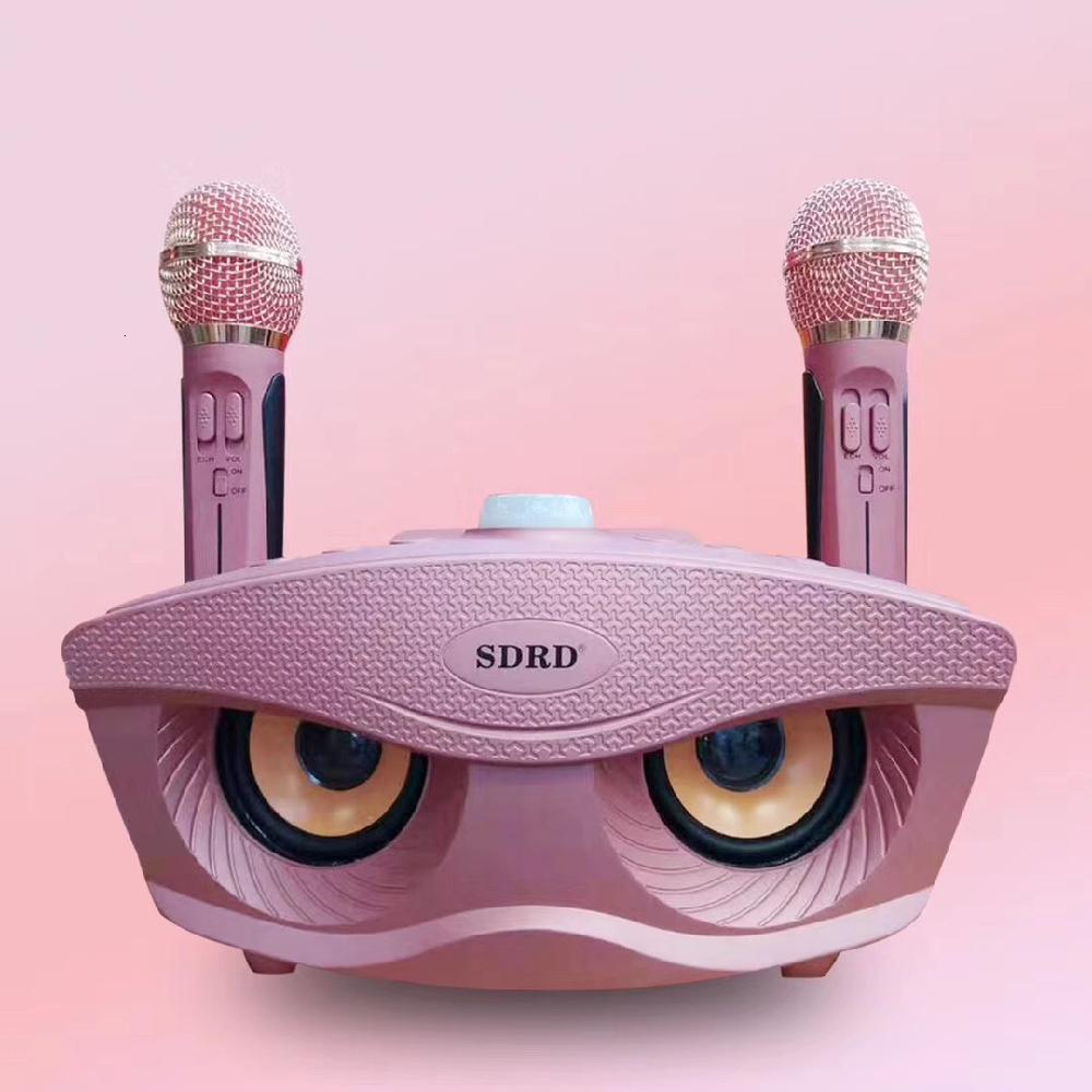 k8 15w wireless bluetooth microphone with speaker SD306 Dual Wireless Microphone Bluetooth-compatible Speaker Mobile Wireless Karaoke Speaker Wireless Stereo Speaker Set