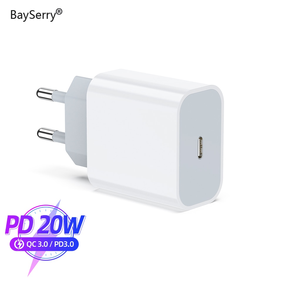 BaySerry Quick Charge QC PD Charger 20W QC4.0 QC3.0 USB Type C Fast Charger for iPhone 12 11 Pro Max X XS XR for Samsung Xiaomi