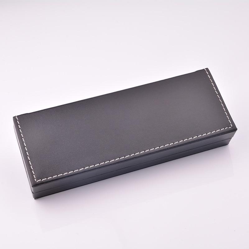 Pu Leather Pencil Box Gift Box Packaging Business Gift Pen Box Case Accept Custom Logo [diy Logo>50]