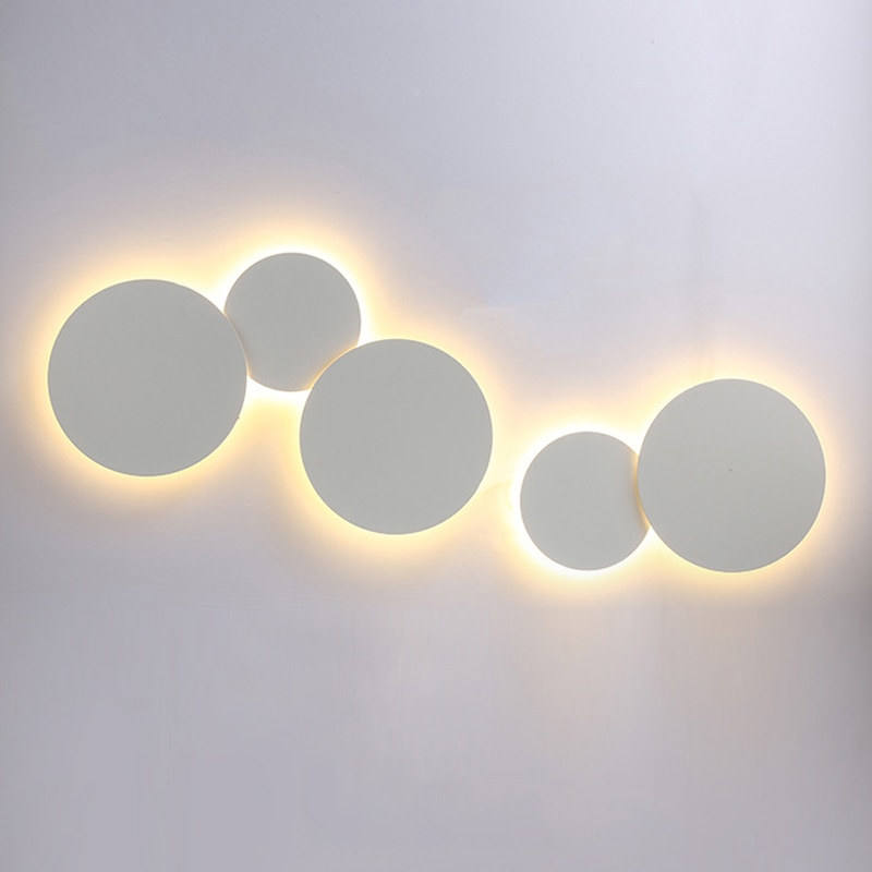 Modern Creative eclipse LED ceiling lamp Combinable engineering background round Ceiling Light for bedroom bedside stairs aisle  - buy with discount