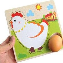 الاطفال الاثاث الخشبية اللعب Mulit طبقة الدجاج الدجاجة يكبر الكرتون الأطفال لوحة عملية المبكر المصباح البيض اللعب