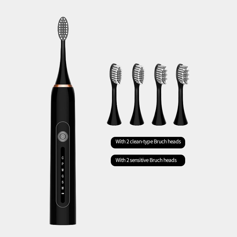 sonic electric toothbrush smart tooth brush ultrasonic automatic toothbrush USB fast rechargeable adult Adult Waterproof
