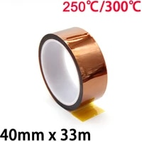 40mm x 33m 3d printer parts high temperature resistant heat bga kapton polyimide insulating thermal insulation adhesive tape