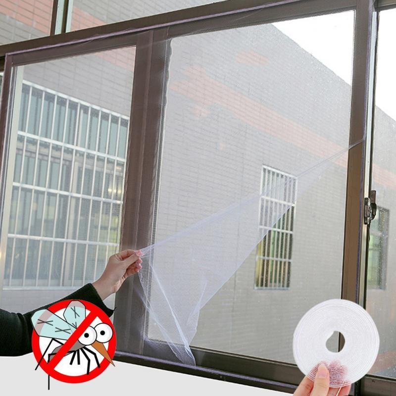 DIY de la pantalla de la ventana de pantalla de insecto Ventana de Kit de bichos avispa Mosquito cortina de red de malla cubierta de ventana Red Cinta Protector