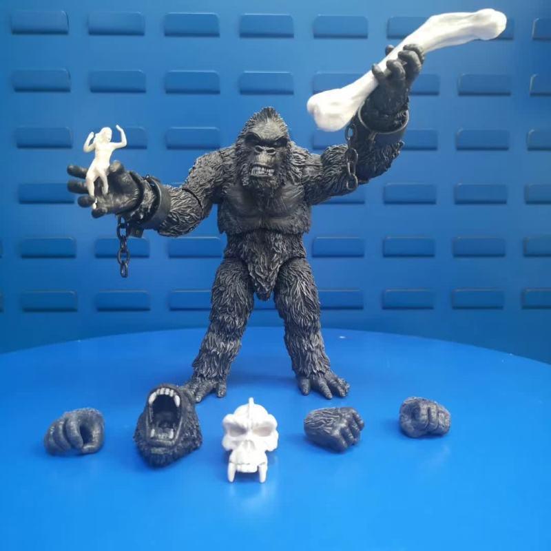 Figuras de la película King Kong DE 18cm, modelo nuevo de juguetes en PVC, versión en blanco y negro, colección de figuras de acción, regalo, 2020