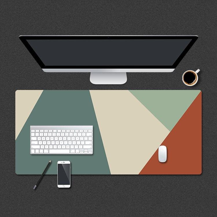لوحة ماوس جلدية من الألياف الدقيقة ، رسم توضيحي إبداعي كبير ، لوحة ماوس ألعاب سميكة ، لوحة مكتب كمبيوتر محمول بسيطة 60 × 30 سنتيمتر