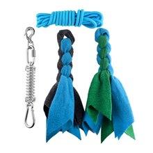 Startseite Langlebig Seil Spielzeug Einfach Installieren Ausbildung Werkzeuge Outdoor Hängen Hinterhof Frühling Pole Übung Garten Für Hunde Muscle Builder