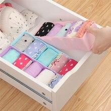 Home Storage Versorgung Faltbare multi Cell Bambus Unterwäsche Bh Schal Socken Organizer Lagerung Box Schublade Closet Divider