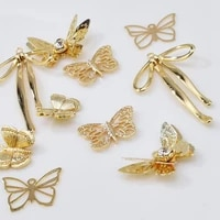 10pcslot cute copper butterfly charms pendant for diy handmade earrings earrings making accessories