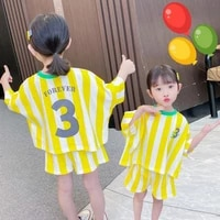 striped clothing sets for girls t shirtshorts 2pcs clothing suit for kids childrens clothing sets for babies girls clothing