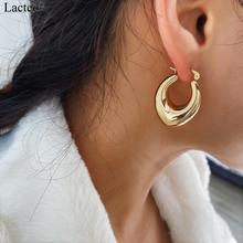 Lacteo Simple Hollow Tube Hoop Earrings Personalise Jewelry for Women Daily Life Wedding Hoop Earrings Statement Female Gifts