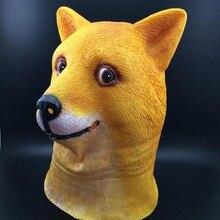 Dog Head Mask Creepy Fur Mane Latex Realistic Crazy Rubber Super Creepy Party Halloween Costume Animal Mask