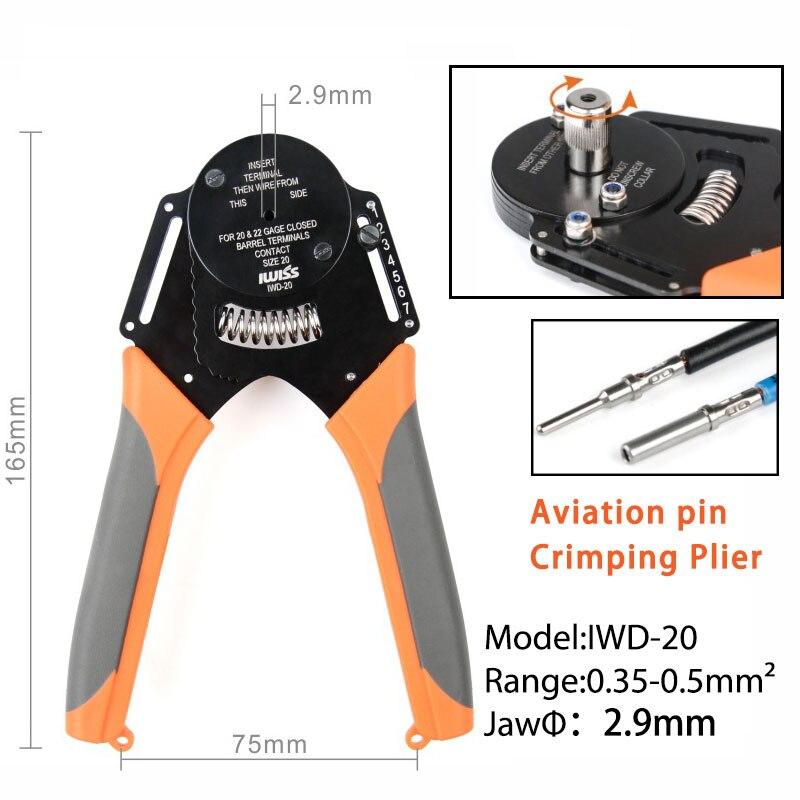 IWD-12/16/20 aviação ferramentas manuais friso alicate adequado para dechi conector 4-point de friso máquina fazendo à máquina alicate terminal