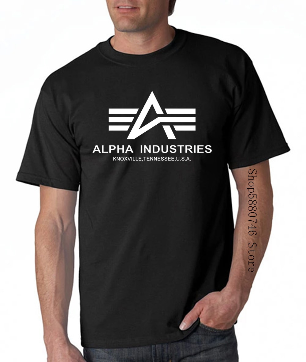 Camiseta básica Alpha Industries Herren Dunkel Grau Manner, camiseta gris para hombre