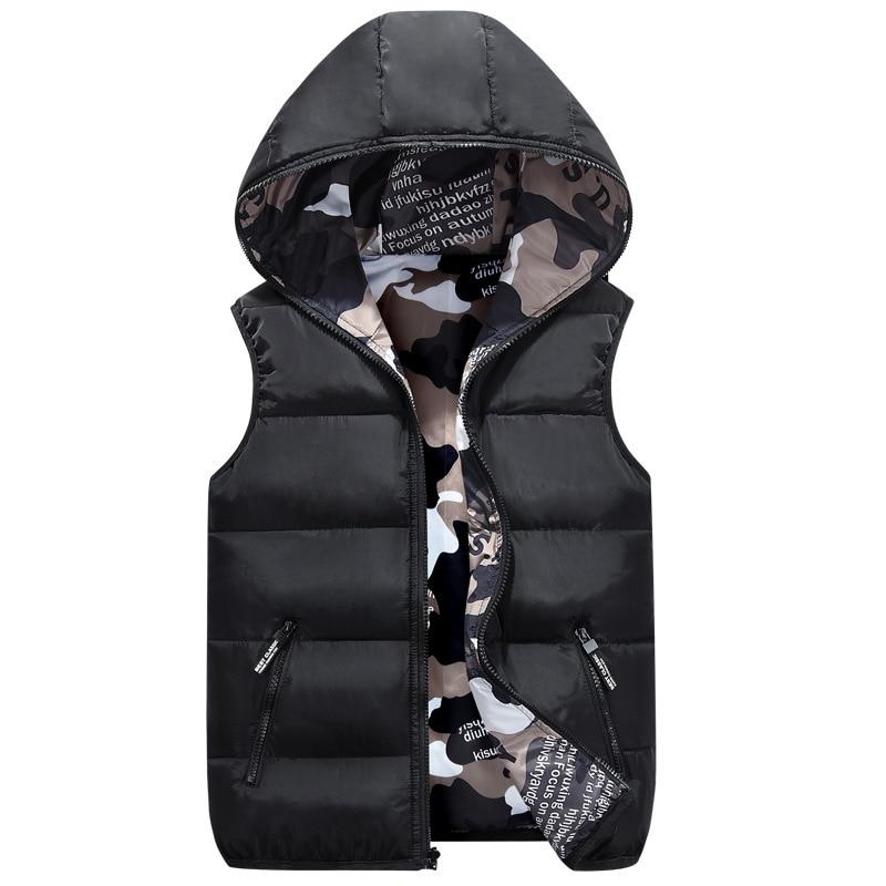 OLEKID 2021 Autumn Winter Reversible Children Vest Camouflage Boys Waistcoat 3-20 Years Kids Teenage Girl Sleeveless Jacket