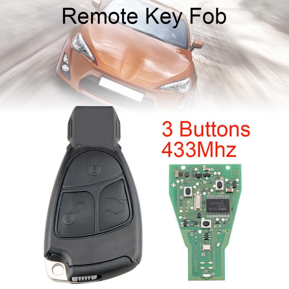 433Mhz 3 botones inteligente mando a distancia de coche ajuste para Mercedes Benz B/C/E/ML/S/CLK/CL/