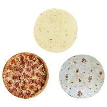 Couverture à motif de Pizza crêpe   Tapis épais rond, flanelle créative, édredon pour bébé, tapis de jeu, Textile doux de ménage