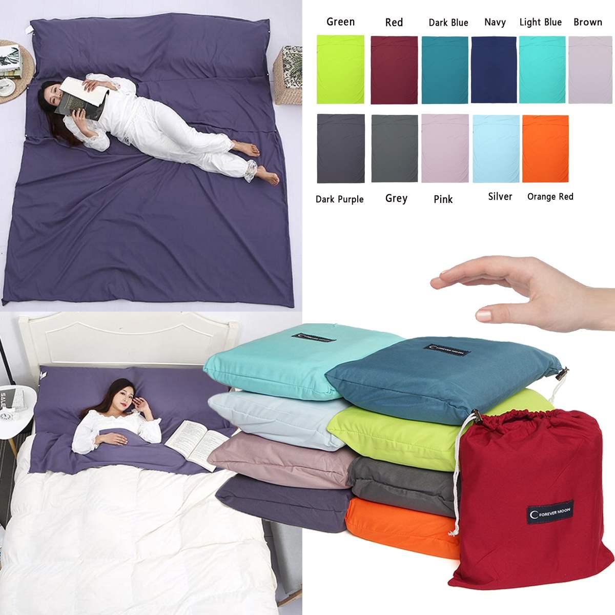 Bolsa de dormir portátil para viaje al aire libre, plegable, ultraligera, aislada, sucia, Sábana de sábana de acampada, 160x210cm