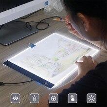Planche à dessin LED A4/A5, planche à tracer, tampons à copie, tablette à dessin LED A4, Table décriture dart, boîte à lumière
