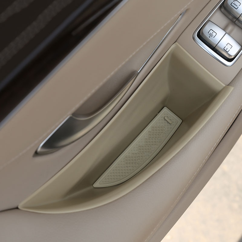 For for W222 S-Class S300 S320 S350 S400 Car Accessories Front Rear Door Storage Box Container Holder Tray
