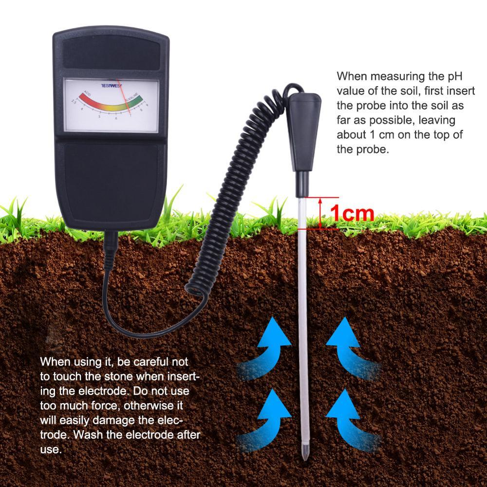 Split-type soil meter, soil pH meter, soil acid moisture tester