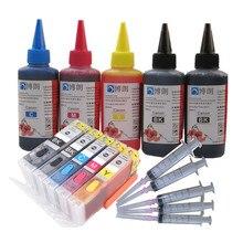Para Canon PGI470 TS5040 TS6040 TS 5040 TS 6040 cartucho de tinta rellenable PIxma impresora 5 Color cartucho de tinta ARC Chip tinta completa
