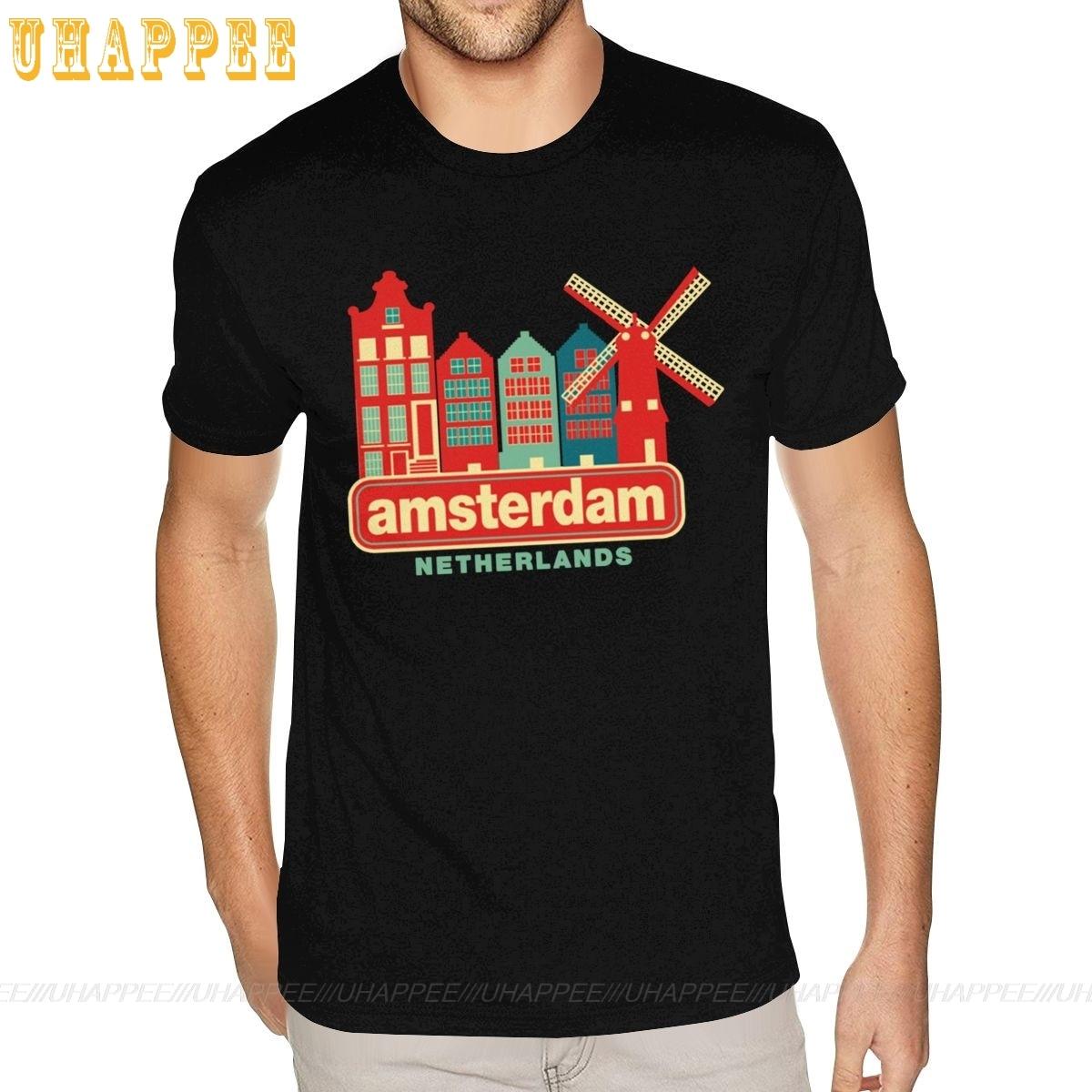 Vintage Amsterdam Países Bajos algodón S-6XL para hombres camisetas únicas