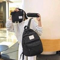 funmardi 3pcsset fashion backpack women waterproof nylon shoulder bag multi pocket school bags for women casual travel bag lady