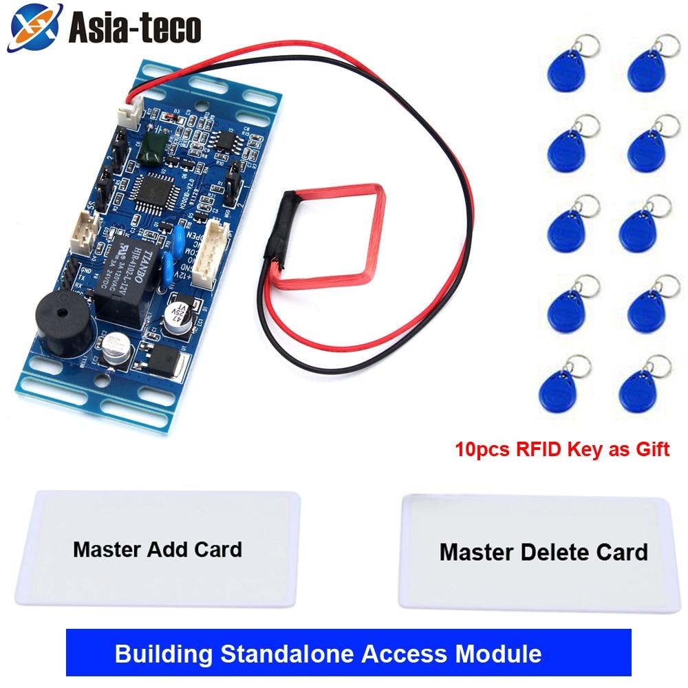 125Khz 13.56Mhz 15000 user RFID Proximity Access Control System Board Building intercom module Embedded Access Control module
